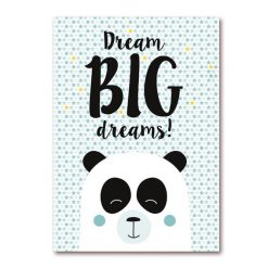 Dreambig dreams poster panda