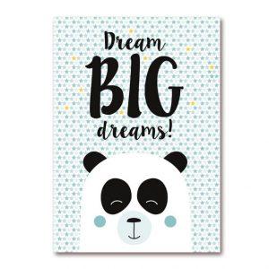 Dreambig dreams poster panda