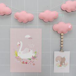 slinger wolkjes roze