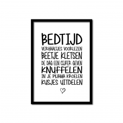 Poster bedtijd gedicht