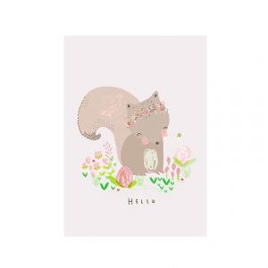 Kaart eekhoorn - Hello