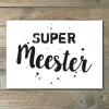 Super Meester kaart