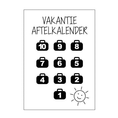 Vakantie aftelkalender