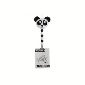 Kaarthanger panda zwart