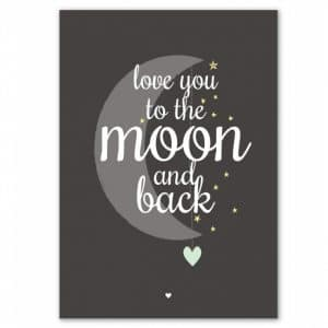 Kaart love you to the moon