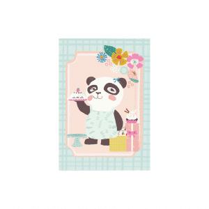 Kleurige Panda kaart