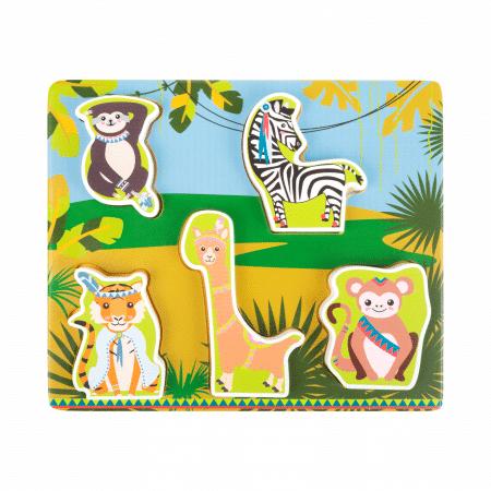 Jungle dieren puzzel