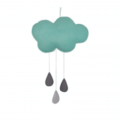 Decoratieve wolken hanger mint