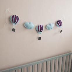 Luchtballonnen lichtblauw paars