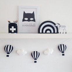 Slinger luchtballonnen zwart wit