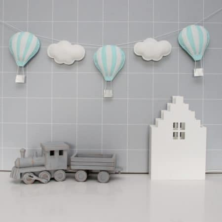 Slinger luchtballonnen mint wit