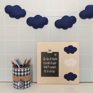 Slinger wolk donkerblauw