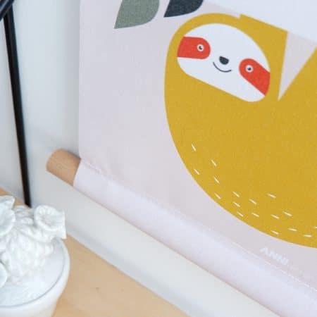 Textielposter oudroze detail