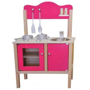 Stoere roze speelkeuken voor meisjes