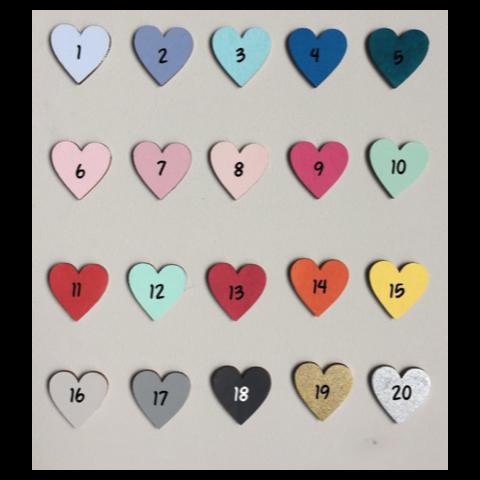kleuren voor de naamblokken - naamblokken kleurkeuze