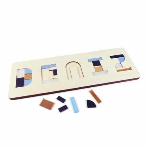 BlueBerryGold - naampuzzel - houten puzzel - naam - creatief - duurzaam
