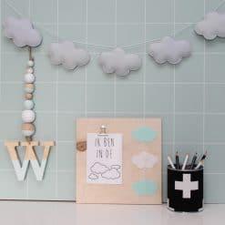 Letterhanger - kinderkamer decoratie - houten decoratie - hanger - hout - naam