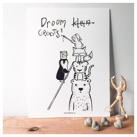 Droom groots - forex plaat - decoratie kinderkamer - poster kinderkamer