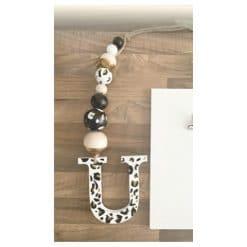 Letterhanger - Kinderkamer decoratie - handgemaakt - decoratief - luipaard - print - meisjes kamer