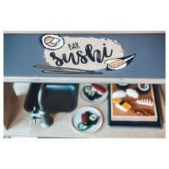 Detail foto Ikea Duktig keuken met sushi speelsticker