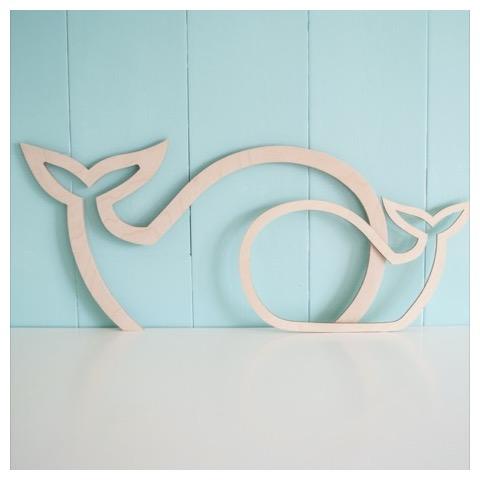 Houten Silhouet - Decoratie kinderkamer - Decoratie babykamer - Hou van hout - Kids Ware