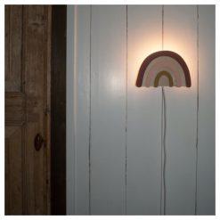 Wandlamp - regenboog - houten decoratie - wandlampen - Kids Ware