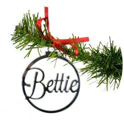 Kerstbal - persoonlijk - decoratief - hout en deco - Kids Ware