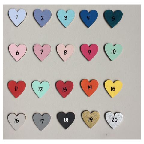 Kleurenkaart bewonderd deco - kleurkeuze - spaarpotten - naamblokken