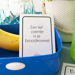 Lunchbox liefs - Kaartje in je broodtrommel - broodtrommel briefje - kaarten