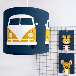 kinderkamer hanglamp safari busje