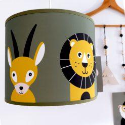 Kinderkamer hanglamp met safari dieren
