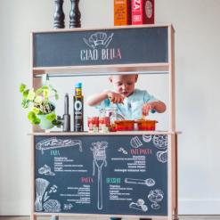 Ikea Duktig keuken met italiaanse sticker