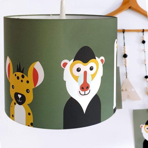 Hanglamp Safari dieren olijfgroen