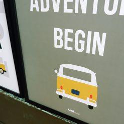 Kinderkamer poster olijfgroen met tekst