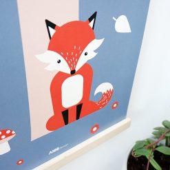 Kinderkamer poster met een vos in het bos