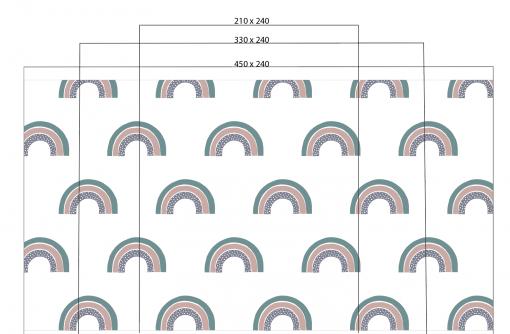 Afmetingen foto rainbow dots kinderkamer behang