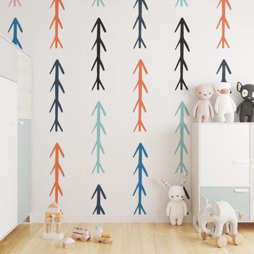Kinderkamer muur met arrows behang