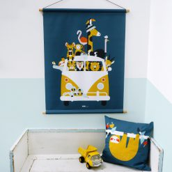 Kinderkamer met textielposter Safari