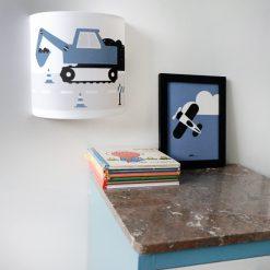Wandlamp graafmachine jeansblauw