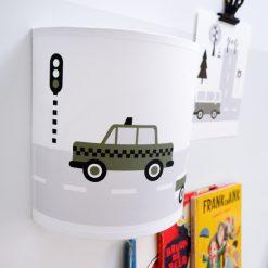 Kinderkamer wandlamp auto's