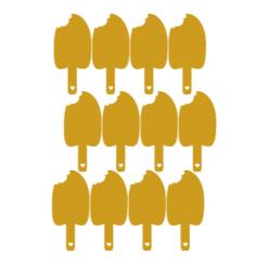 Vel met 12 gouden ijsjes muurstickers