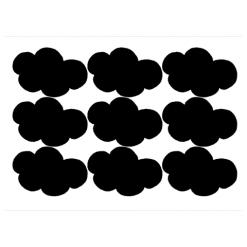 Muurstickers Zwarte wolken