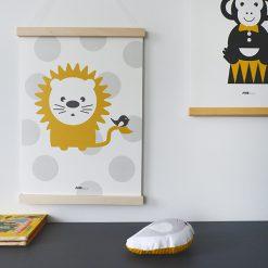 Kinderkamer poster met vriendelijke leeuw