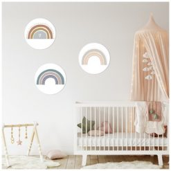 Kinderkamer met muurcirkels regenbogen