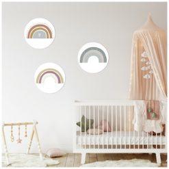 Kinderkamer muur met muurcirkels regenbogen