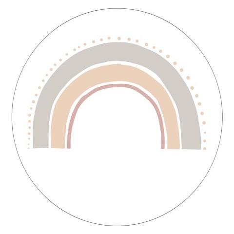 Muurcirkel Regenboog light