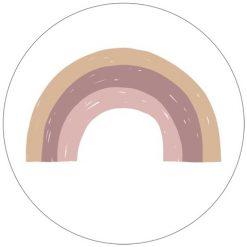 Muurcirkel Regenboog oud roze