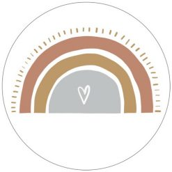 Muurcirkel Regenboog Heart