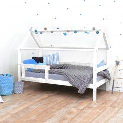 Kinderkamer met huisbed Tery wit op pootjes