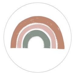 Muurcirkel Regenboog Petrol Roze